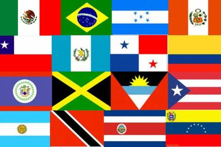 Latin flags 168