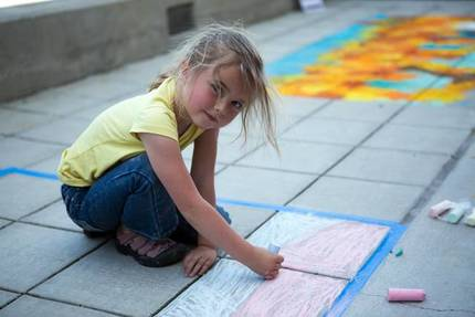 Arts in april 2014 napa riverfront chalk festival