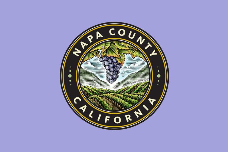 Napa county logo framed